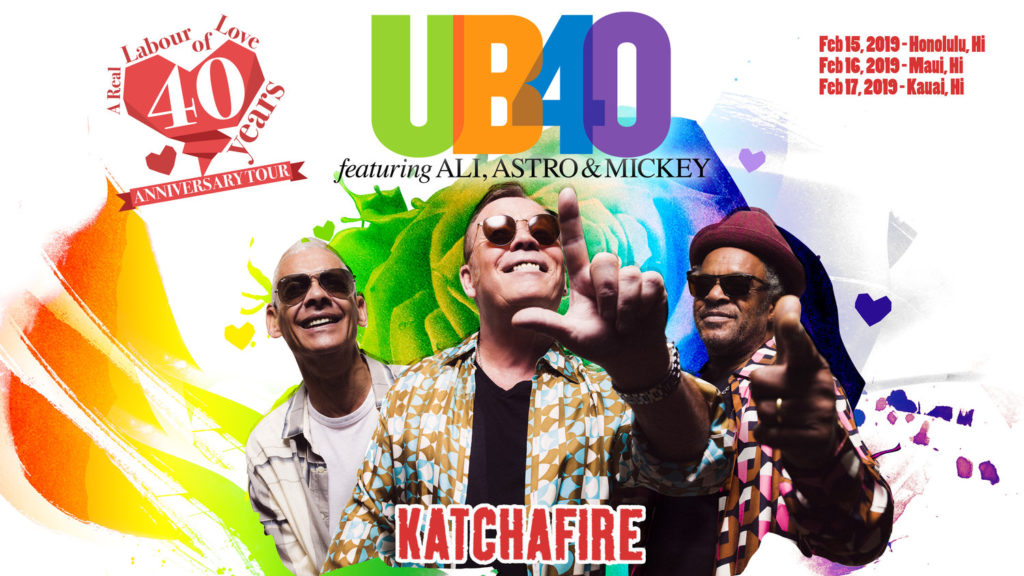 UB40 Hawaii Tour 2019